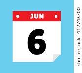 calendar icon flat jun 6