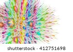 abstract multicolored fractal... | Shutterstock . vector #412751698