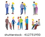 stages of family formation. the ... | Shutterstock . vector #412751950
