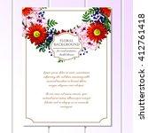 vintage delicate invitation... | Shutterstock .eps vector #412761418
