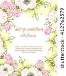 vintage delicate invitation... | Shutterstock . vector #412762579