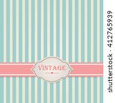 pastel vintage frame. vector... | Shutterstock .eps vector #412765939