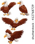 Four Eagles In Different...
