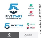 number five star logo template | Shutterstock .eps vector #412769200