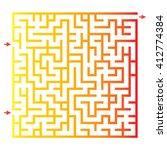 funny maze game for kids....   Shutterstock .eps vector #412774384