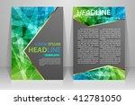 abstract vector modern flyers... | Shutterstock .eps vector #412781050