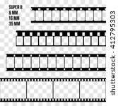 vector film strip set... | Shutterstock .eps vector #412795303