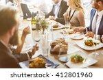 business celebrate cheerful... | Shutterstock . vector #412801960