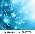 best internet concept of global ... | Shutterstock . vector #412803730
