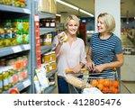 happy spanish girl and mature... | Shutterstock . vector #412805476