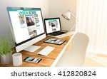 digital generated devices over...   Shutterstock . vector #412820824