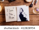 mothers day composition. black... | Shutterstock . vector #412828954
