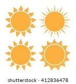 set of sun icon | Shutterstock . vector #412836478
