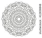 east circular pattern mandala.... | Shutterstock .eps vector #412838848