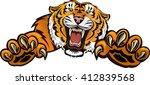 tiger jump | Shutterstock .eps vector #412839568