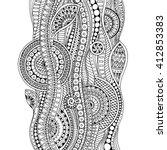 ethnic floral zentangle  doodle ... | Shutterstock .eps vector #412853383
