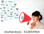 contagious content. viral... | Shutterstock . vector #412854964