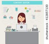doodle business digital... | Shutterstock .eps vector #412857130