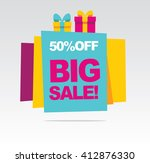 big sale banner. banner 50  off.... | Shutterstock .eps vector #412876330