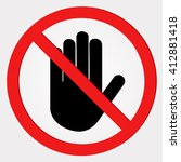 no entry sign | Shutterstock .eps vector #412881418