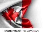 flag of canada on white... | Shutterstock . vector #412890364