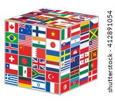 cube with world flags vector... | Shutterstock .eps vector #412891054