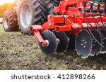 plow modern tech red tractor... | Shutterstock . vector #412898266