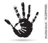 concept cute black paint hand... | Shutterstock . vector #412899484