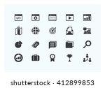 seo icons vector. silhouette.   Shutterstock .eps vector #412899853