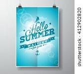 hello summer  i've been waiting ...   Shutterstock .eps vector #412902820