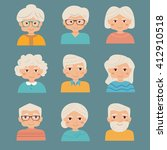 old people set. vector isolated ...