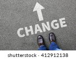Small photo of Change changing work job life changes concept vision