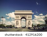 arc de triomphe against nice... | Shutterstock . vector #412916200
