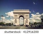 arc de triomphe against nice... | Shutterstock . vector #412916200