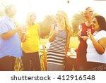 friends friendship outdoor... | Shutterstock . vector #412916548