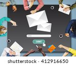 mail e mail message information ... | Shutterstock . vector #412916650
