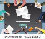 mail e mail message information ... | Shutterstock . vector #412916650