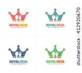 crown food logo  royal food logo | Shutterstock .eps vector #412920670