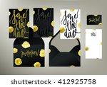 tony glittering gold textured... | Shutterstock .eps vector #412925758