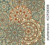 seamless background of circular ... | Shutterstock . vector #412928308