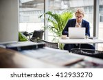 businessman working thinking... | Shutterstock . vector #412933270