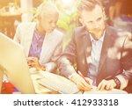 business people meeting... | Shutterstock . vector #412933318