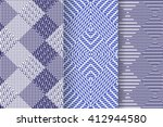 set of 3 abstract patterns.... | Shutterstock .eps vector #412944580
