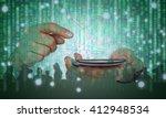 digital disruption concept... | Shutterstock . vector #412948534
