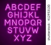 pink neon light glowing... | Shutterstock .eps vector #412953130