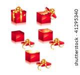 vector christmas boxes   Shutterstock .eps vector #41295340