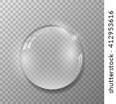 crystal ball with reflections... | Shutterstock .eps vector #412953616