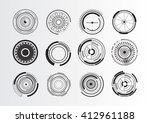 set of abstract circle elements | Shutterstock .eps vector #412961188