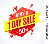 one day sale poster  banner.... | Shutterstock .eps vector #412961704
