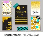set of sparkling gold dusted... | Shutterstock .eps vector #412963660